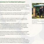 Profil des Forstbetriebes Sedlmayer